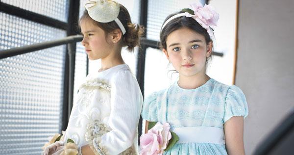 Graci, collezione Autunno Inverno 2015: bambine immersi in un giardino orientale
