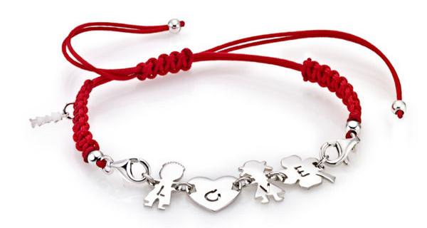 ibamboli a San Valentino: bimbo e bimba uniti in un prezioso bracciale d'argento