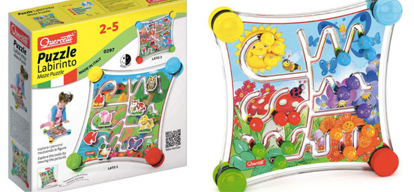 Giochi per la prima infanzia: Quercetti presenta Fantacolor e Puzzle Labirinto
