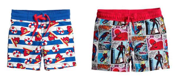 Costumi da bagno per bambino low cost: i modelli di H&M dedicati a Super Mario Bros e Spiderman