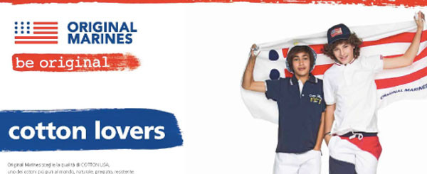 Cotton Lovers: la nuova campagna di Original Marines in collaborazione Cotton Usa
