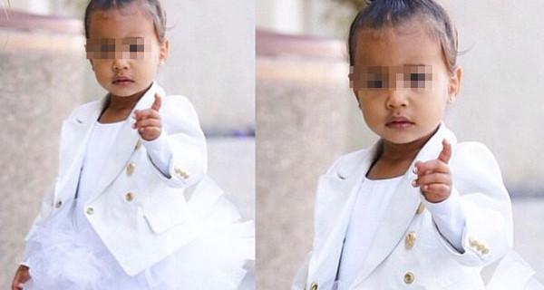 Il look scelto da Kim Kardashian per la sua bambina, la piccola North West