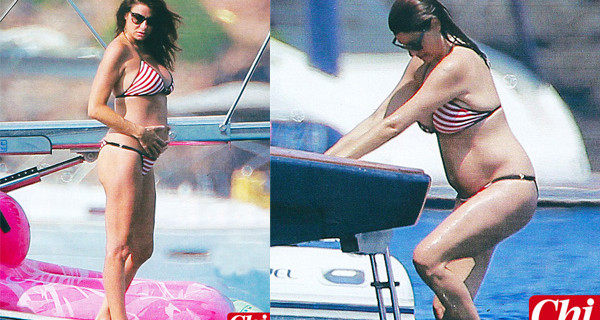 Ilaria D'Amico è incinta di Gigi Buffon: le prime foto del pancione