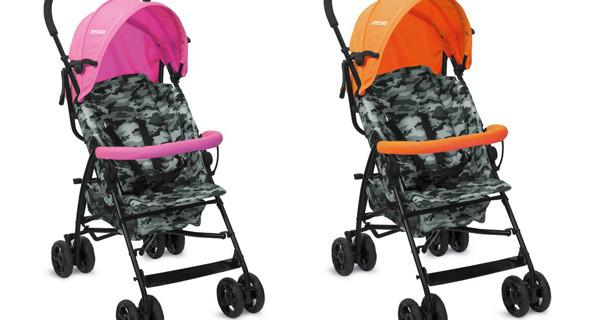 Passeggini leggeri per bambini: Joycare Baby presenta i Burlone in fantasia Camouflage