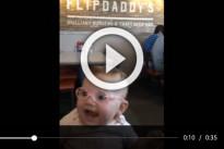 Neonata prova per la prima volta gli occhiali da vista: la sua reazione commuove il web
