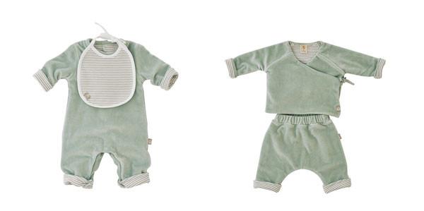 Il colore dell'inverno per i neonati è il verde salvia: la nuova collezione di Filobio
