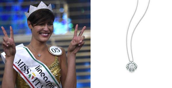 Il collier di Miss Italia 2015 all'asta per aiutare i bambini
