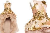 Lusso e moda per bambini: l'abito in oro da 24 carati di Mischka Aoki