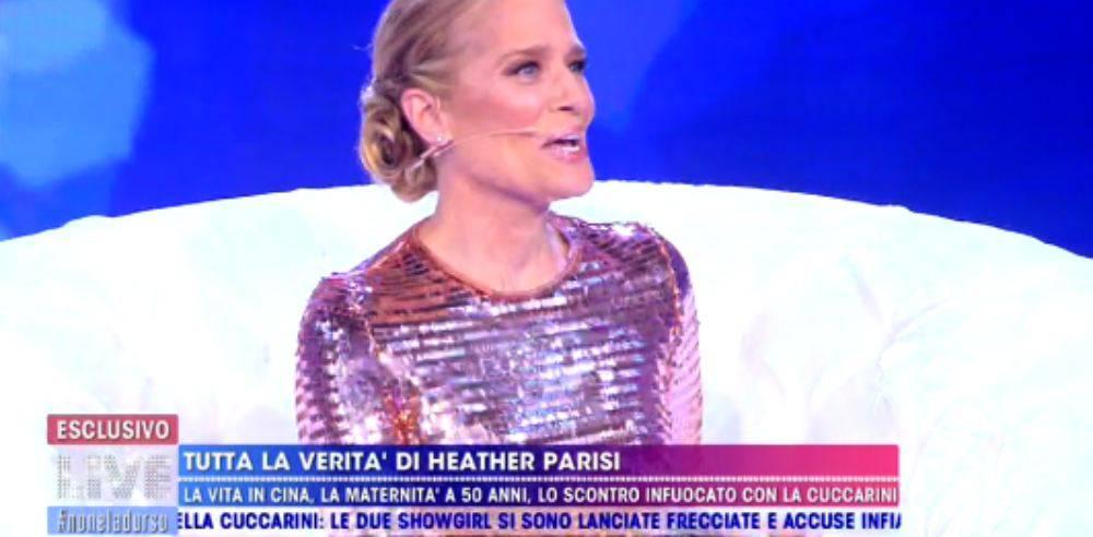 Heather Parisi a Non è la D'Urso favorevole ai figli per i gay e attacca la Cuccarini