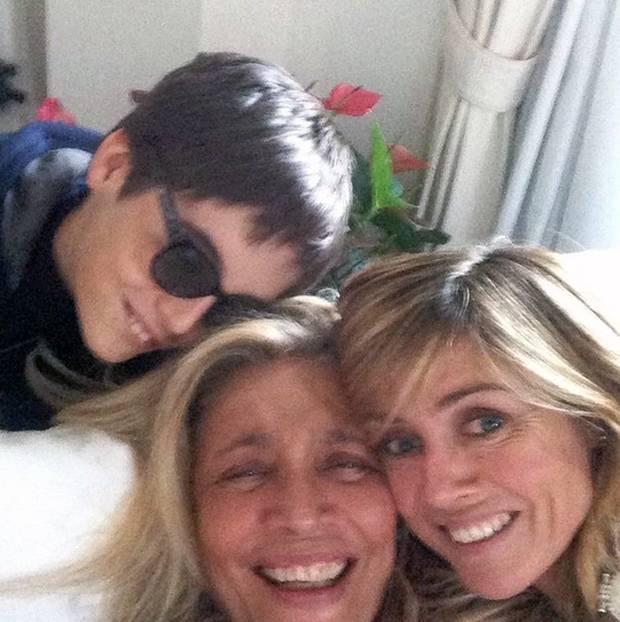 Mara Venier è una nonna rock con il nipote Giulio