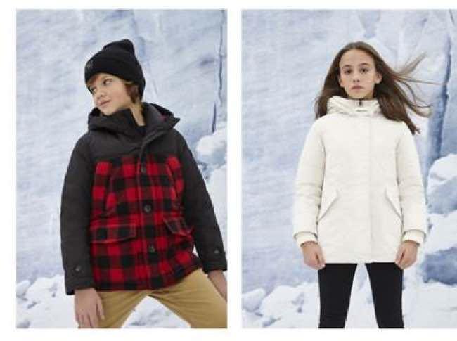 Moda Bimbi lo stile Woolrich per la bambina e il bambino